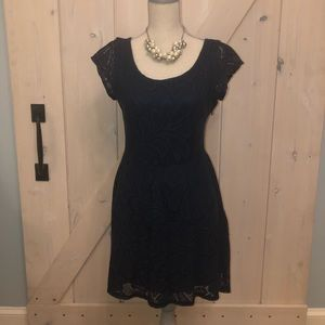 Beautiful navy blue knit dress
